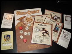 HeroQuest Stat Cards and Dice