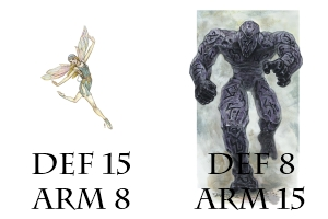 Sprite & Golem: Defense and Armor